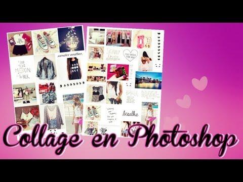 Como hacer collage en Photoshop. (Tipo tumblr)