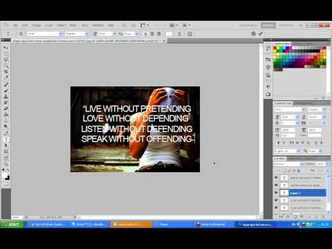 How To Create A Tumblr Image Using Photoshop CS5.
