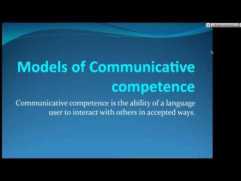 Communicative Competence