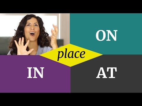 ON / IN / AT - Prepositions of place 👉how to easily remember when to use what😅