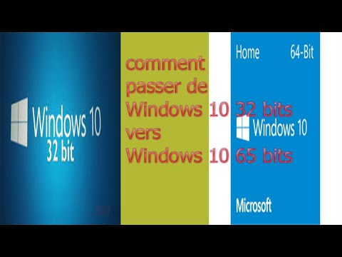 Windows 10: comment passer de la version 32 bits à la version 64 bits