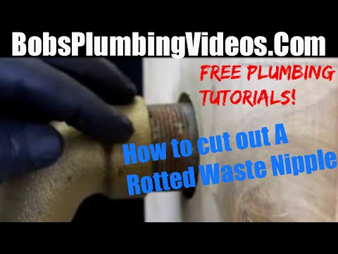 How To Cut Out a Rotted Waste Nipple & Remove Old Galvanized Pipe