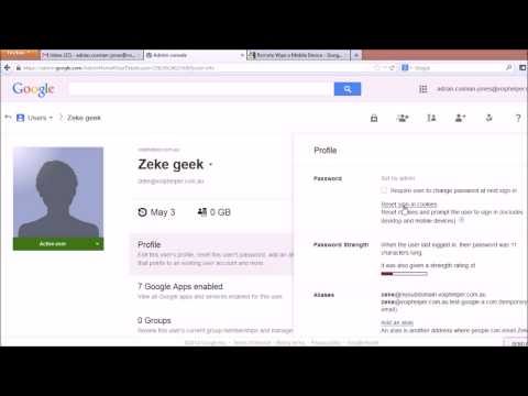 How to remove a user in Google Apps part 1