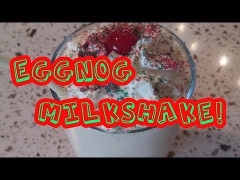 EggNog MilkShake: Christmas Holiday Drink Non- Alcoholic