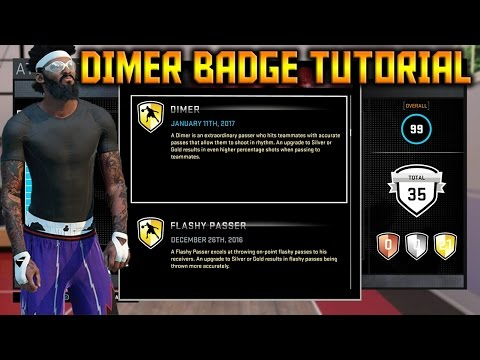 NBA 2K16 How To Get Dimer & Flashy Passer Badge FAST Tutorial