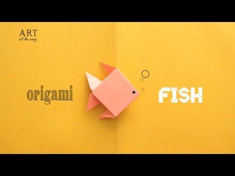 DIY: Simple Origami Fish - Paper Craft Tutorial