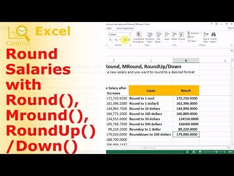 How to Round New Salaries with Round, MRound, RoundUp and RoundDown