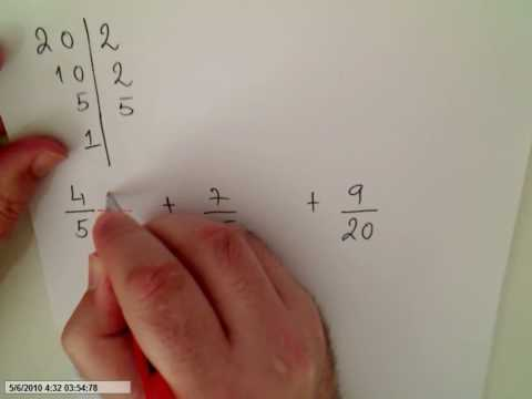 Least Common Denominator adding more than two fractions