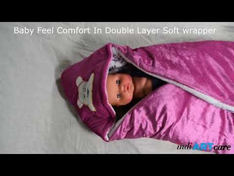 New Born Baby Wrappers Blanket Cum Sleeping Bag With Hood! Care Your Baby