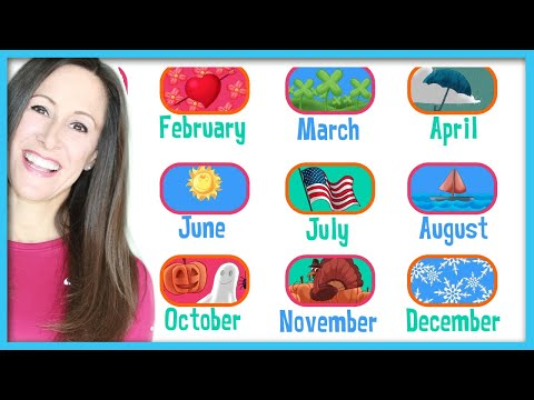 12 Months of the Year Children's Song | Twelve Months Song in English and SpanishPatty Shukla