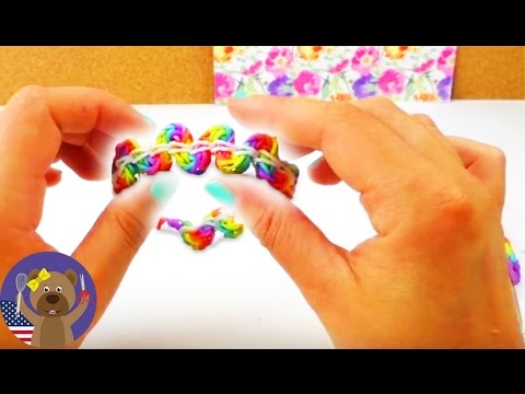 Loom Bands Snake Bracelet Easy - Rainbow Loom Tutorial English