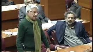 Khawaja Asif blasting on Shah Mehmood Qureshi in National Assembly