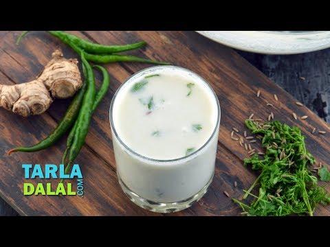Buttermilk, Homemade Buttermilk Recipe,  Chaas by Tarla Dalal