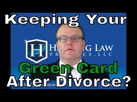 Can a conditional resident keep their green card after divorce?