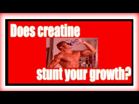 Does creatine stunt your growth?