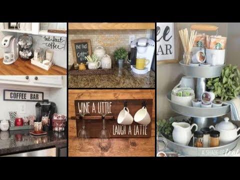 75+ Home Coffee Bar Design And Decor Ideas | DIY Kitchen Storage & Organization