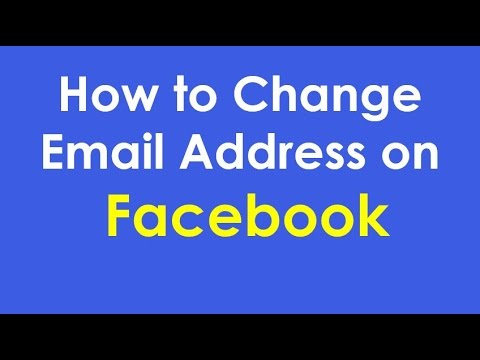 How to Change Your Primary Email Address on Facebook - How to change email address on facebook