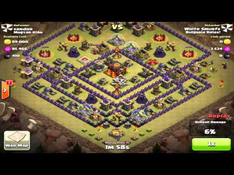 Clan Wars Balloons and minions attack (no heroes)