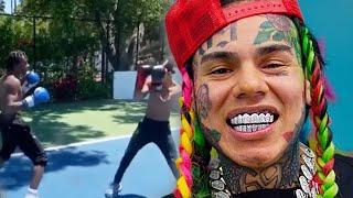 6ix9ine Reacts To Lil Tjay & YK Osiris Boxing Match