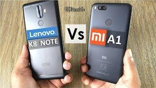 Mi A1 vs Lenovo K8 Note   Battery, Gaming, Design & Build, Camera, Sound