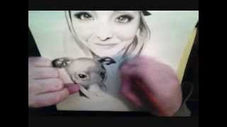 Speed drawing of Jenna Marbles (Mourey) & Kermit