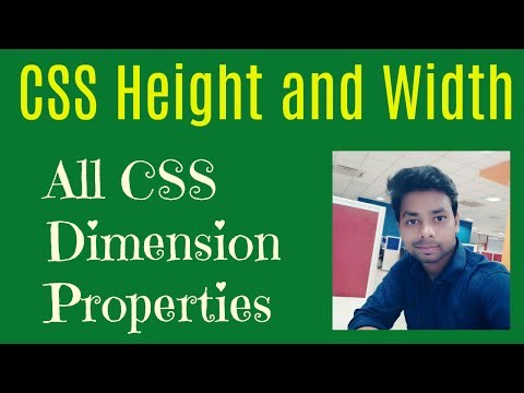 Learn CSS in Hindi | CSS height and width | All CSS Dimension Properties