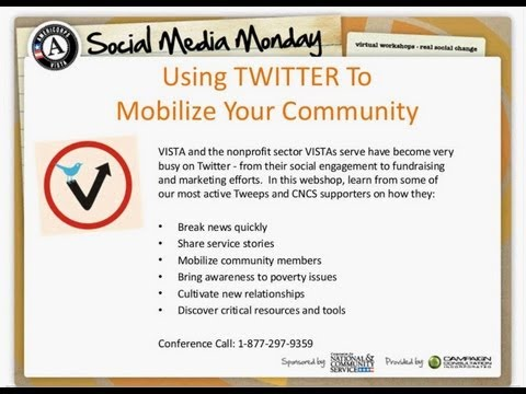 Social Media Monday: Using Twitter to Mobilize Your Community