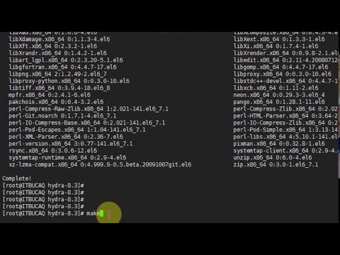Installing Hydra and Crunch to Centos 6
