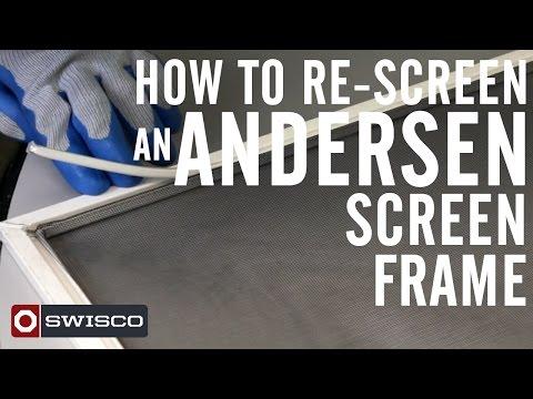 How to Re-screen an Andersen Window Screen [1080p]