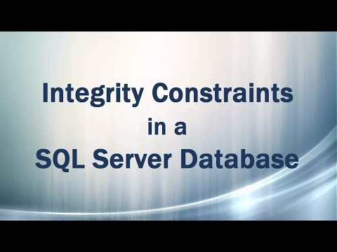 Integrity Constraints in a SQL Server Database