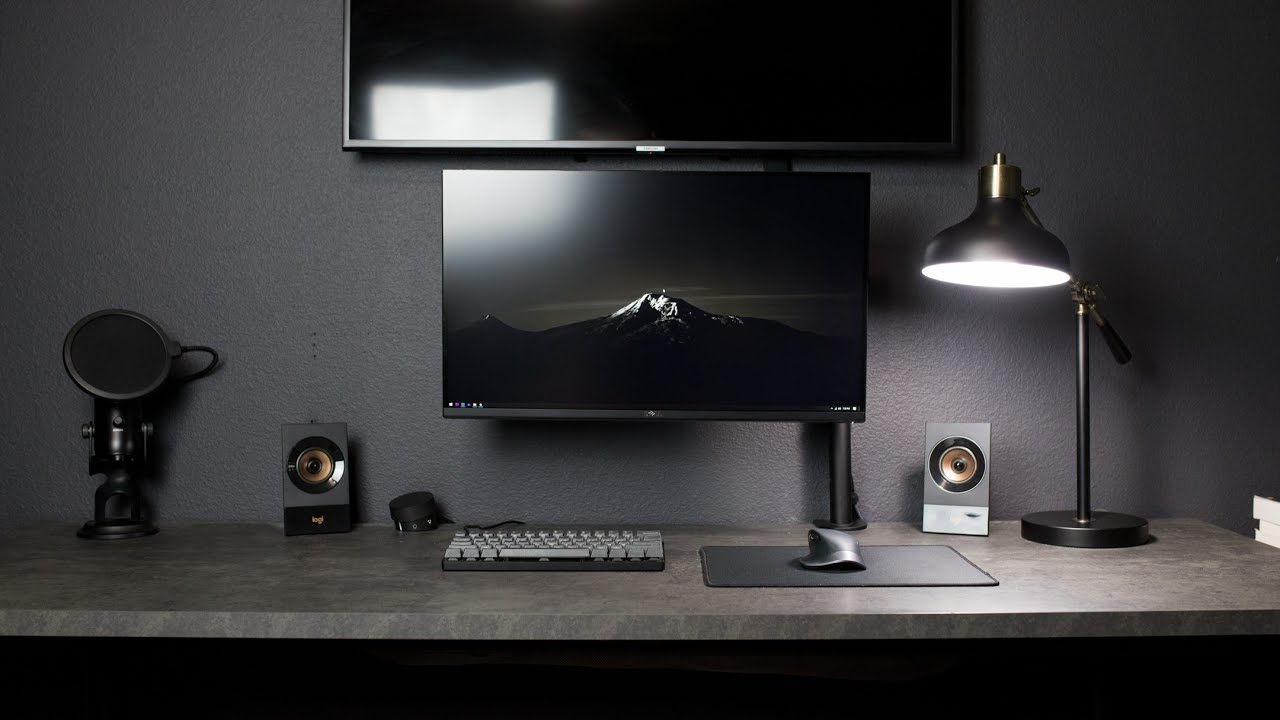Modern Workspace Setup Tour – DIY Bedroom Transformation