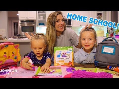 WE STARTED HOME SCHOOL! 😱