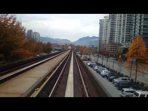 Arriving in downtown Vancouver via Skytrain