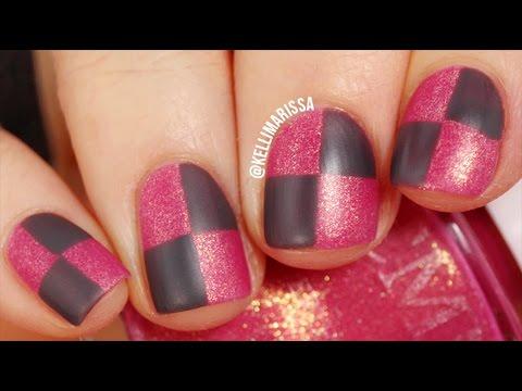 EASY NAIL ART: Checkers Tutorial (using household tools!) || KELLI MARISSA