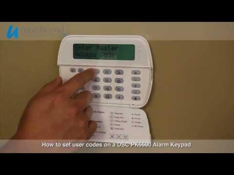 DSC | Program user codes on a DSC PK5500 Alarm Keypad