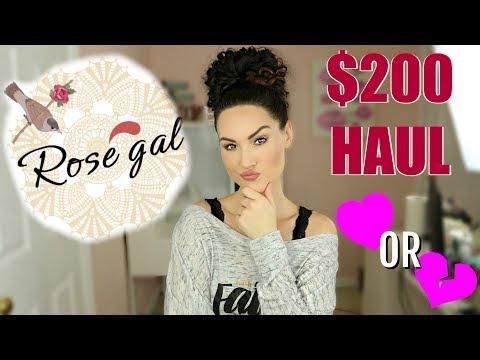 $200 ROSEGAL TRY ON HAUL   The Glam Belle