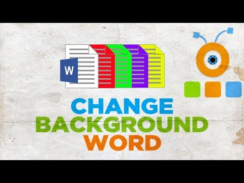 How to Change the Background or the Background Color in Word Page