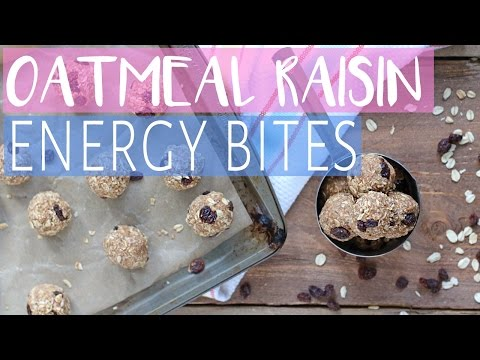 How To Make Oatmeal Raisin Cookie Bites | VEGAN GLUTEN & DAIRY FREE