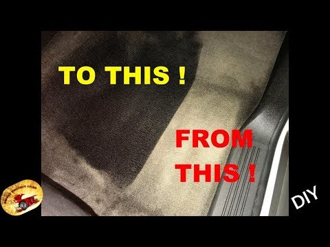 HOW To DYE Auto CARPET & FABRIC....To NEW Again!