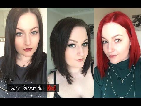 Dark Brown to Red Hair Journey