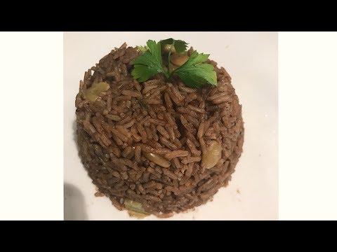 How to make Haitian Style diri ak djon-djon (Black Rice)