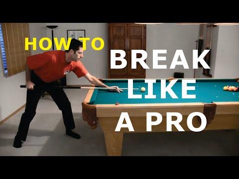 Pool Break Shot Technique Advice - How To Break - from Vol-III of the BU instructional DVD series