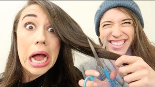 MY SISTER CUT MY HAIR!