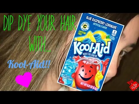 How to dip dye your hair with Kool-Aid!!!! | Tutorial