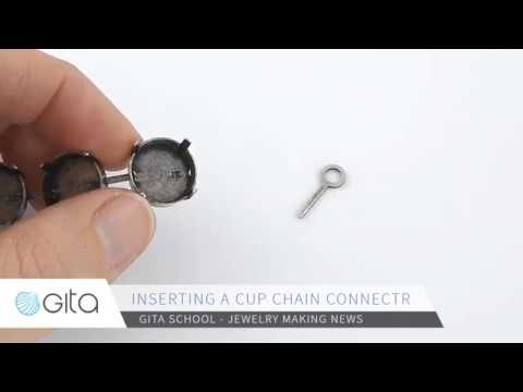 Gita-jewelry School - How to insert a cup chain connector