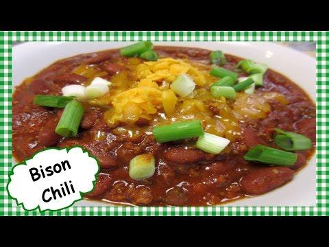 How to make Cowboy Buffalo Chili ~ Ground Bison Recipe