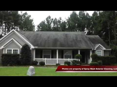 How to clean asphalt shingle roofs in Tallahassee Florida, 32308, 32311, 32309, 32317, 32312