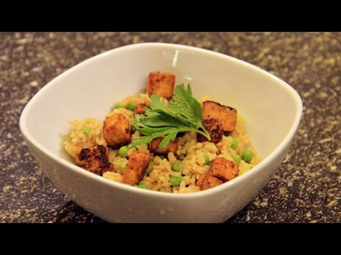 Fried Rice Recipe with Peanut Butter Sauce