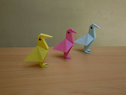 How to Make a Simple Paper Bird - Easy Tutorials