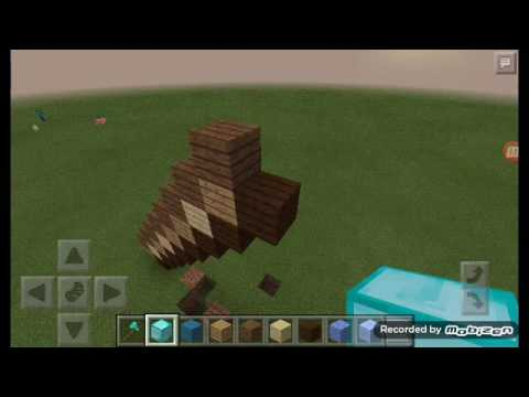Statues of items New Series | How to Build an Axe in MCPE #1